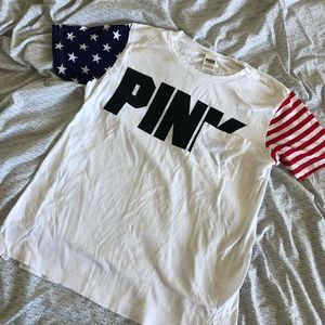 Pink 4th of July Americana Oversized Tee